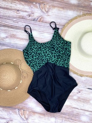 The Huntington One Piece Swimsuit in Green