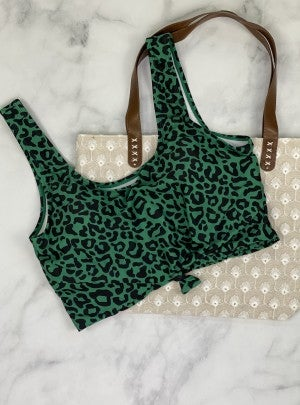 The Huntington Cropped Swim Top