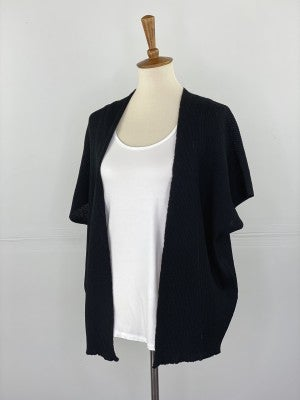 The Slouchy Summer Cardigan in Black