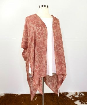 The Floral Kimono in Dusty Rose