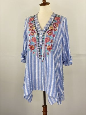 Perfect Flower Embroidered Top