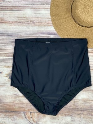 Black High Waisted Swimsuit Bottoms