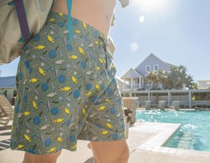 90's Vibes Fish and Reel Swim Trunks by Burlebo