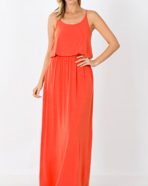 The Two-Layer Maxi Dress in Sunset Glow