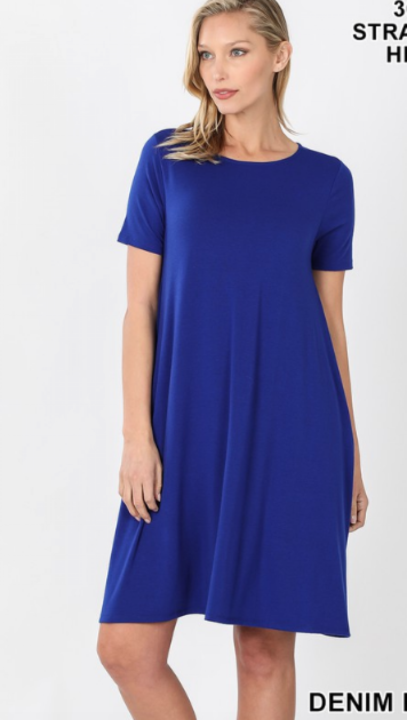 Favorite T-Shirt Dress in Admiral Blue