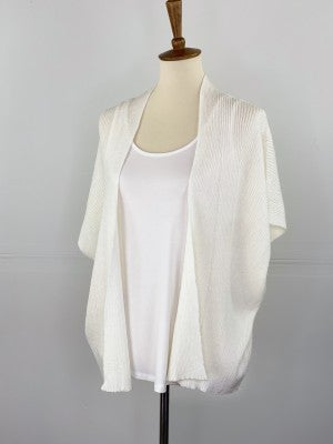 The Slouchy Summer Cardigan in Not Quite White