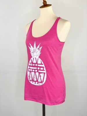 Pink Vintage Pineapple Tank