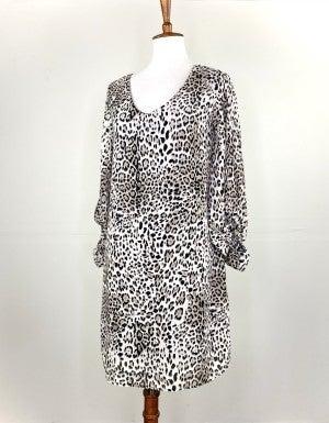 The Snow Leopard Shift Dress