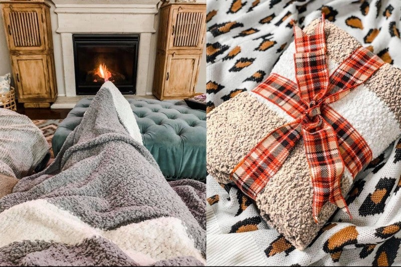 The Coziest Popcorn Throw Blanket