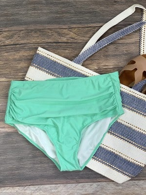 High Waisted Mint Swimsuit Bottoms