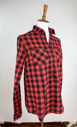 Buffalo Plaid Popover Top