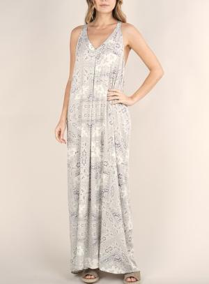 The Lola Lavender Pleated Maxi Dress