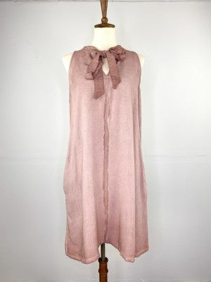The Mineral Rose Tie-Top Dress