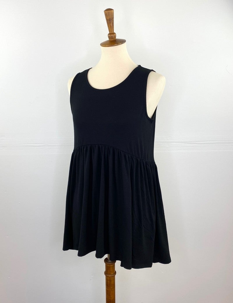 The Perfect Babydoll Tank in Black