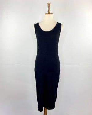 The Black Sleeveless Bodycon Midi Dress