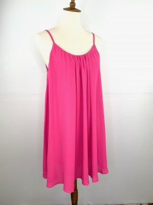 The Lovely Little Spaghetti Strap Dress in Hot Pink