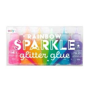 Rainbow Sparkle Glitter Glue Dot Paint