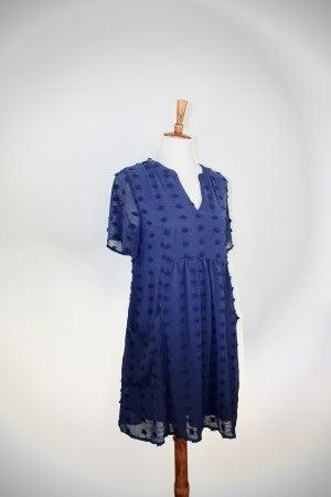 The Natalie Navy Babydoll Dress