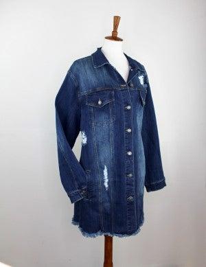 The Lindsay Longline Denim Jacket