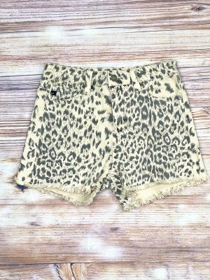 The Frayed Leopard Shorts
