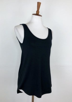 Fitted Layering Tank in Black