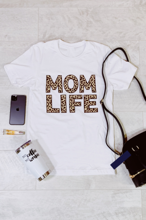 Mom life tee