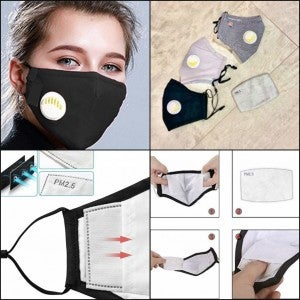 Protective Mask For Adult Comes with 2 PM 2.5 filters