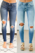 Dressed In Distressed Jeans - Denim