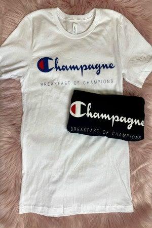 Champagne Breakfast Graphic Tee