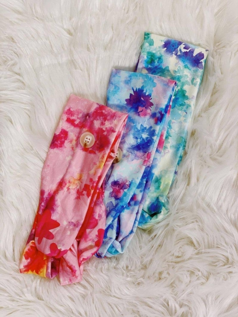 TIE DYED Button Headband (Final Sale)