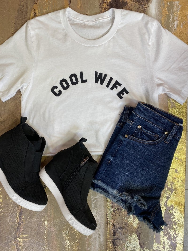 Cool Wife Cropped Graphic Tee