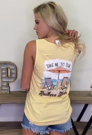 Southern Shores Graphic Tank