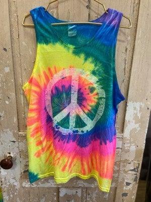 Tie Dye Peace Graphic Tank
