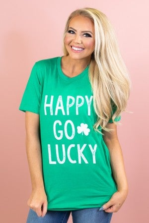 Happy Go Lucky Graphic Tee