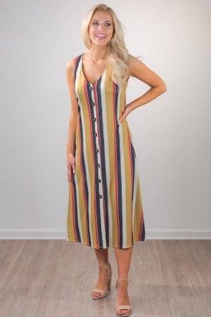 Drop Me A Line Midi Dress