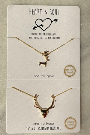 Deer To My Heart Necklace Set