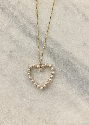 My Pearly Heart Necklace