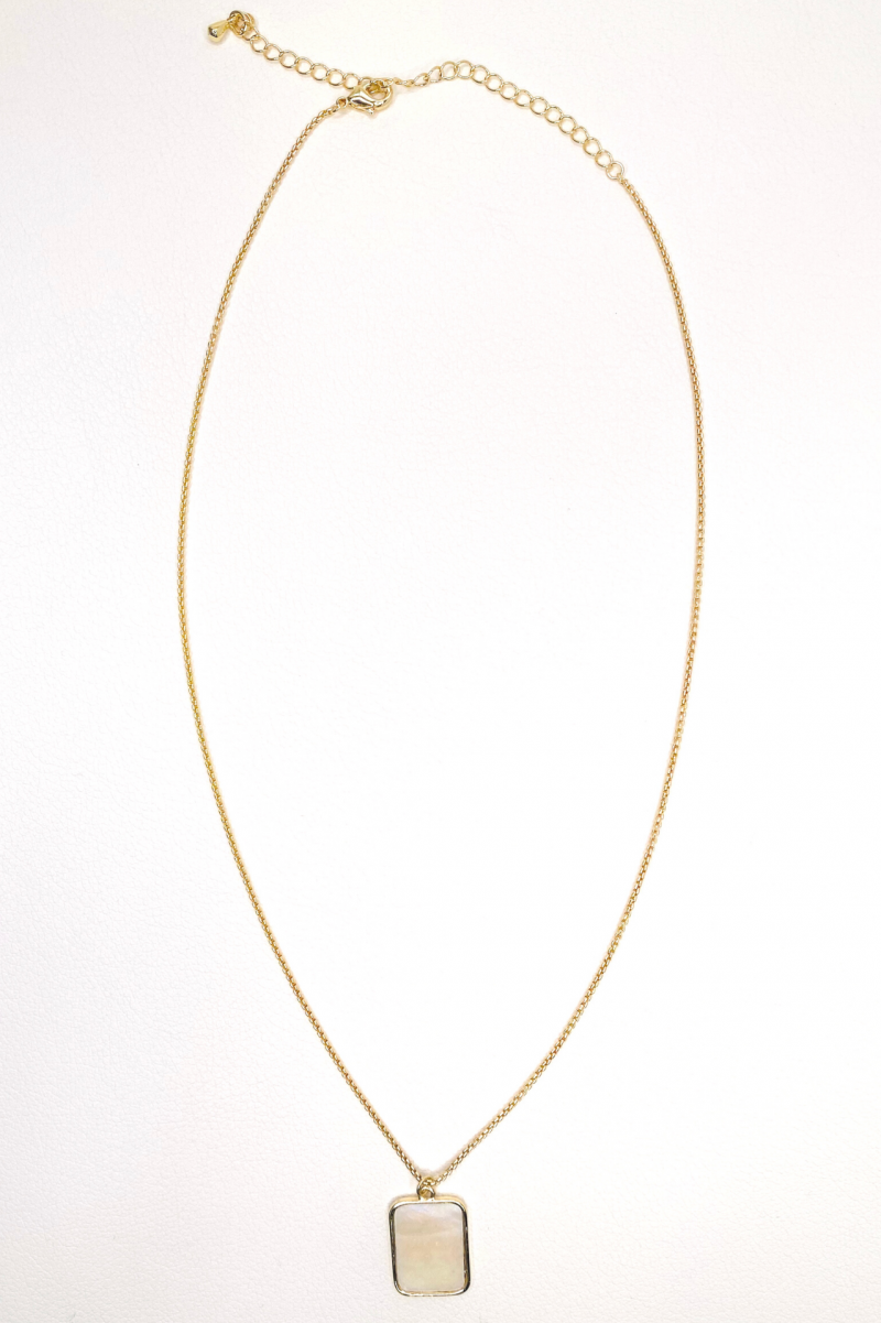 Blank Page Necklace