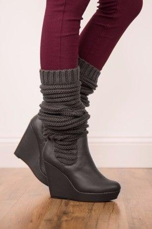 Bringing Scrunchie Back Wedge Boot