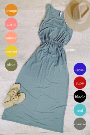 Bubble Top Maxi Dress - 908