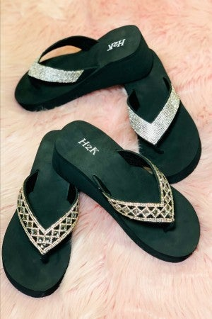 Blast From The Past High Wedge Sandal