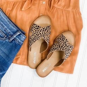 Cross My Heart Sandals - Leopard
