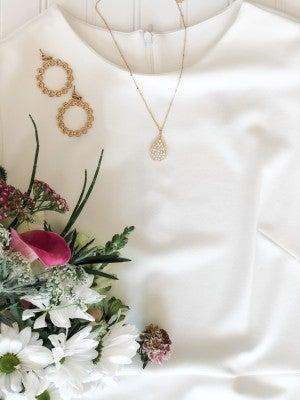 Pearl Teardrop Necklace
