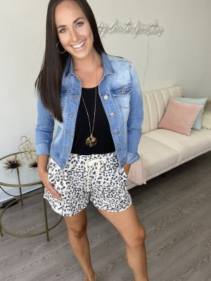 Seeing Spots Leopard Print Lounge Shorts