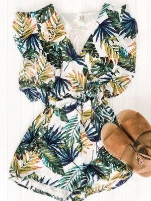 Best Fronds Palm Print Romper