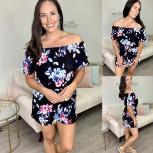 Happy Times Floral Romper