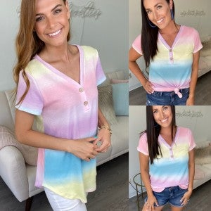 Chasing Rainbows Ombre Top