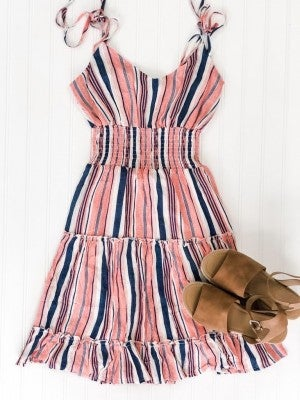 American Stripe Faded Hues Dress