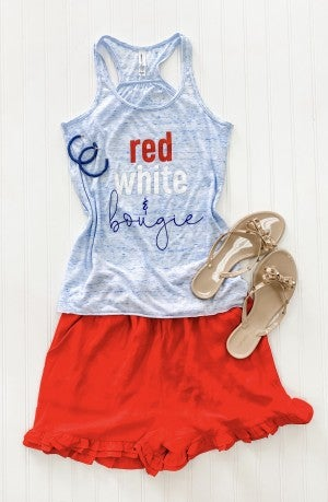 Red White and Bougie Tank