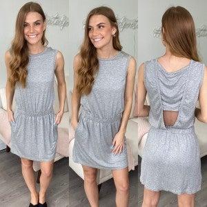 Open Heart Casual Gray Dress
